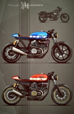 Racing Cafè: Cafè Racer Concepts - Yamaha Bolt by Holographic Hammer