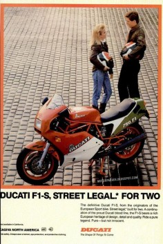 Racing Cafè: Vintage Brochures: Ducati F1-S 750 1988 (Usa)