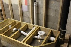 raised bathroom  | The first step in building the raised drainage platform was to get the ...