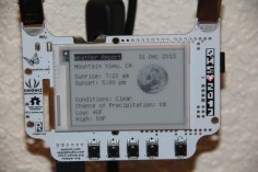 Raspberry Pi BADGEr ePaper Weather Station - Jeremy Blum has used his 2013 Open Hardware Summit BADGEr which all attendees were given to great effect and combined it with a Raspberry Pi mini PC to create a Raspberry Pi BADGEr ePaper Weather Station. | Geeky Gadgets