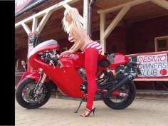 Red Ducati Sport Classics 1000 and a Devil :)