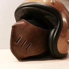 Riding leather mask mask