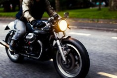Riding Moto Guzzi #caferacer |