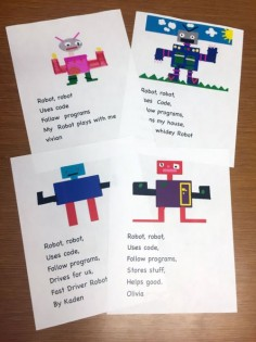 Robot Drawings in 1st Grade - The Digital Scoop