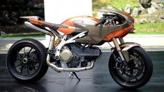 RocketGarage Cafe Racer: Disegno 01 By Angel