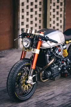 Sacha Lakic's Honda cx500 Cafe Racer | ©SébastienNunes #SachaLakic #cx500 #caferacer