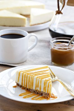 "Salted Caramel Cheesecake is definitely the impression you want to make on your guests this holiday season. Be ready for the wows!Pin this recipe from @ChallengeButter 's ""Pin a Recipe, Feed a Child"" board and it will donate a meal to #UNICEF for a child in need (up to 75,000 meals.) Please join us in the fight to end childhood malnutrition. More than 3 million lives are lost each year to this treatable and preventable crisis. #pinarecipefeedachild #challengebutter"
