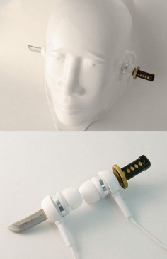 Samurai sword headphones