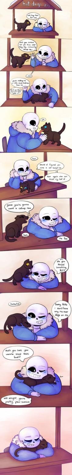 Sans & Cat - omg so cute!!!!