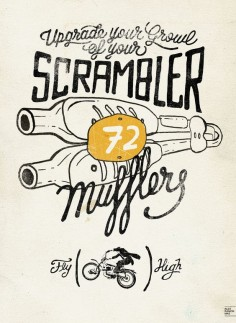 Scrambler Poster For an Exhibition · Alex Ramon Mas designs  scrambler-®ARM