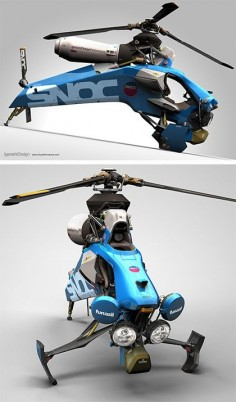 Single Seat Helicopter. Ok, I want one.