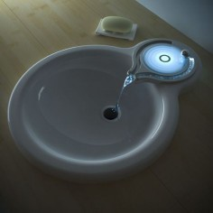 Sink!  The surface glows red or blue to denote how hot or cold it is!