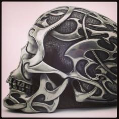 Skull motorcycle helmet