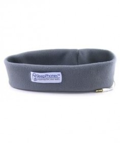 Sleep Phones: Fall asleep to ambient sound without the pain and annoyance that earbuds cause when jutting into (or falling out of) your ear. Simply slip on this cozy fleece headband, turn on some tunes, and drift off to sleep.