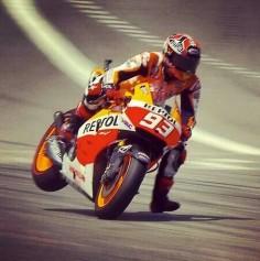 Slowing from 220mph+...you've gotta love the exuberance of  carbon fibre brake  Marquez