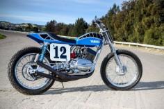 Smoking hot: Peter Rowland's Yamaha RD350 dirt tracker. - Bike EXIF