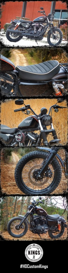 "Smoky Moutain Harley-Davidson built ""Modern Mule"" in honor of the early heritage of the Sportster lineup. 