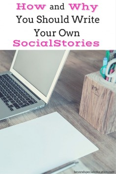 """Social stories are """"stories"""" that are used to teach children with disabilities social skills during a specific event or situation. Social stories are easy to create on your own. Read and learn how!"""