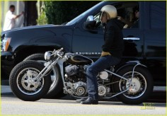 Some people like Brad Pitts  but I like his motorcycle collection!