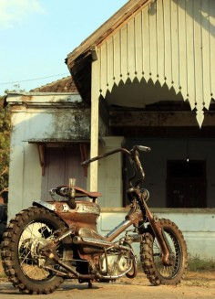steampunk custom honda supercub