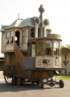 Steampunk Tendencies | Neverwas Haul, A Steampunk Victorian-Era House On Wheels  New Group : Come to share, promote your art, your event, meet new people, crafters, artists,