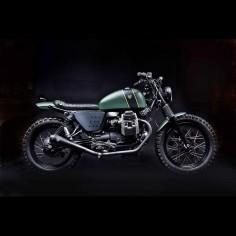Stefano Venier prides himself on building practical, factory-fresh bikes, like 'Tractor 03'—a Moto Guzzi V7-based scrambler.