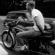 Steve McQueen on Triumph
