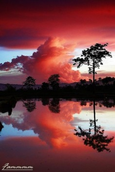 Stunning sunset reflection
