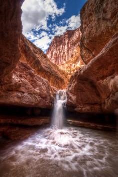 Sulphur Creek Falls, Capitol Reef State Park, Utah