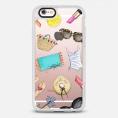 Summer Style (Fashion Illustration Transparent Case) - protective iPhone 6 phone case in Clear and Clear by @H. Nichols Illustration #fashionillustration | @Casetify