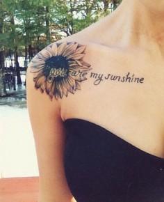 sunflower tattoo - 45 Inspirational Sunflower Tattoos  ♥ ♥