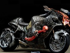 Suzuki Hayabusa Predator bike Super cool.