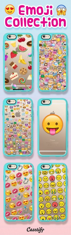 Talk emoji to me! Shop these emoji cases on our website now!  | @Casetify