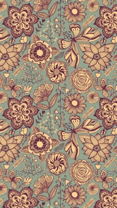 Tap image for more iPhone pattern wallpaper! Vintage Pattern - @mobile9 | Wallpapers for iPhone 5/5s, iPhone 6 & iPhone 6 plus #background