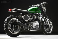 Thats a very tidy  built on a  who would have thought that 3 years ago? Yamaha Virago XV920 cafe racer