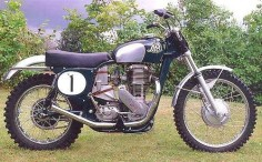 The 1961 Lito 500cc classic motocross bike from Sweden