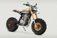 The big 'F— You': Classified Moto's Honda XR650L via Bike EXIF