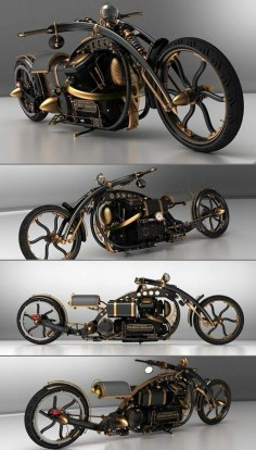 The Black Widow! Custom Steampunk Chopper