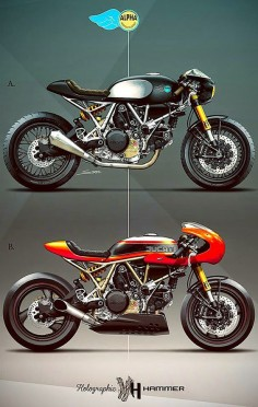 The Bullitt: Ducati cafe racers by Holographic Hammer