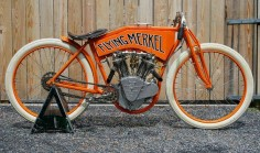 The Flying #Merkel - Rare early production #motorcycle. | repinned by