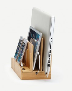 The  Bamboo Multi-device Charging Station and Dock With Universal Compatibility By Great Useful Stuff®:Amazon:Cell Phones & Accessories