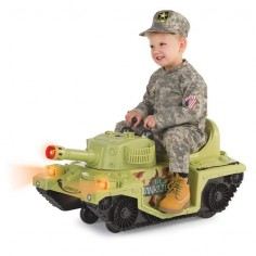 The Light And Sounds Ride On Tank - Hammacher Schlemmer
