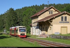 The line Blumberg - Immendingen was opened in 1890. Since then the station building has changed just a little.