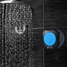 The Maze Exclusive waterproof Bluetooth shower speaker with FM radio is like no other speaker out there. Witness the first and only waterproof speaker that has is IPX7 waterproof certified with FM radio built in.