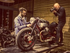 The Moto Guzzi V7 Cafe Racer shooting for RAD Magazine.