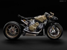 The motorcycle as art: a 2014-model Ducati 1199 Superleggera stripped of its bodywork. From the Bike EXIF Facebook page at