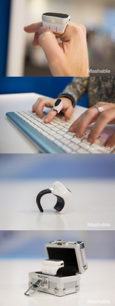 The Mystro is a finger-mounted 3D mouse. Users can wave their fingers to magically move items on your computer. #gadget