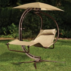 The Pendulum Lounger - Hammacher Schlemmer