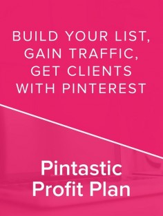 The Pintastic Profit Plan is a step-by-step program that shows you EXACTLY how to turn Pinterest into an automated sales, leads, and list building machine for your business. *affiliate*