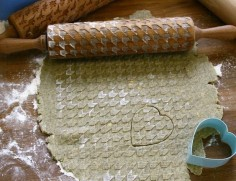 The roller is perfect to use with clay, you can use it to give texture to your pottery!
